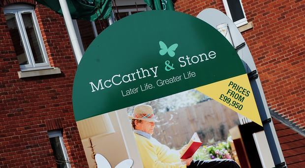 Retirement housebuilder McCarthy and Stone saw shares tumble after it warned over full-year earnings and said its boss was leaving in August (Rui Vieira/PA)