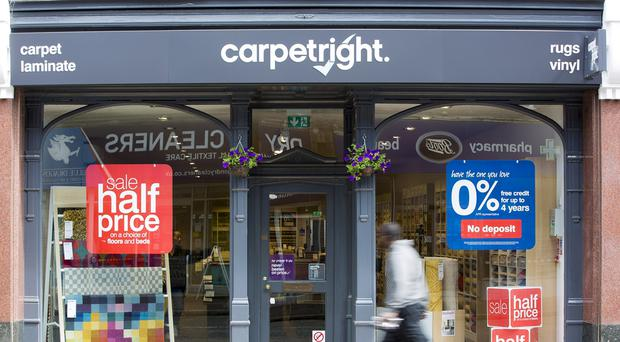 Carpetright swung to a loss amid declining sales (PA)
