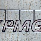 A logo outside the KPMG office in Mayfair, London (PA)