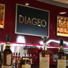 Diageo-owned whiskies on a bar at their headquarters in Edinburgh (PA)