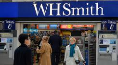 WH Smith saw trading profits in its high street stores fall 3% to £60m (John Stillwell/PA)