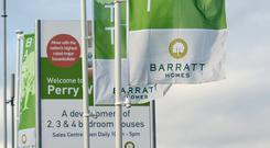 Barratt Developments has shrugged off mounting signs of Brexit woes in the property market (PA)