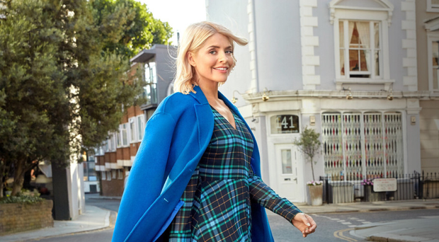 Holly Willoughby modelling for M&S
