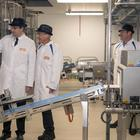Quorn Foods CEO Kevin Brennan and Tees Valley Mayor Ben Houchen (left) open the factory in Billingham (Ian Hodgson/PA)