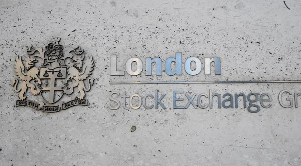 Shares were down on Monday (PA)