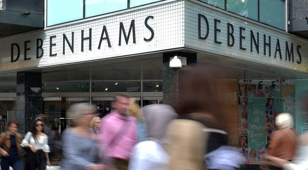 Debenhams shares were in the doldrums again (PA)