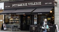 File photo dated 18/05/16 of a Patisserie Valerie shop in central London.