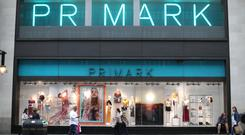 """File photo dated 29/5/2018 of a branch of Primark on Oxford Street, central London. Primark owner Associated British Foods has said profits at the budget fashion chain are """"well ahead"""", despite a fall in like-for-like sales over its festive quarter."""