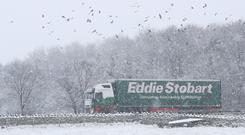 Eddie Stobart's full-year results were boosted by new contract wins (Owen Humphreys/PA)