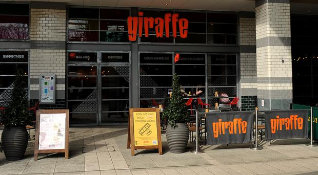 Giraffe was previously owned by Tesco (Andrew Matthews/PA)