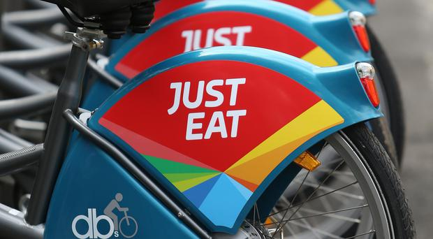 Sales are up at Just Eat (Niall Carson/PA)