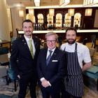 Bars manager Taylor Kirk, Europa Hotel general manager James McGinn and executive head chef Kyle Greer.