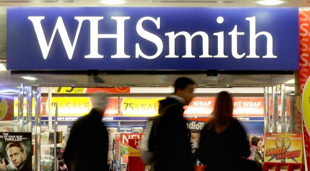 WH Smith saw pre-tax profit drop to £65m in the six months to February 28 (Anthony Devlin/PA)