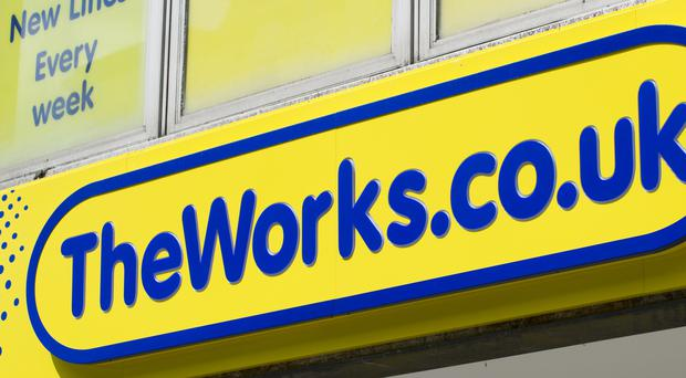 The Works was hit by slower sales in the early part of the year (Tim Goode/PA)
