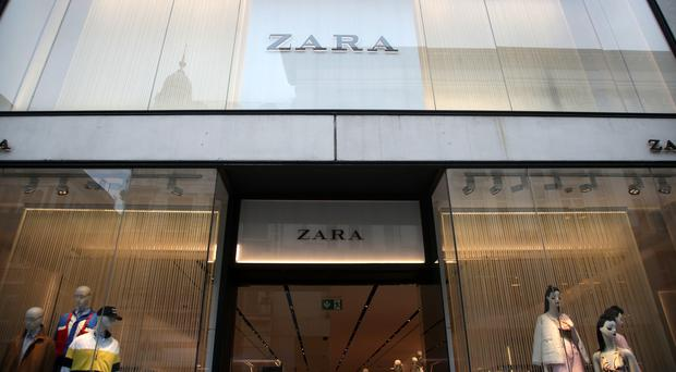 Zara owner Inditex has notched up a 10% hike in first-quarter profits (Yui Mok/PA)