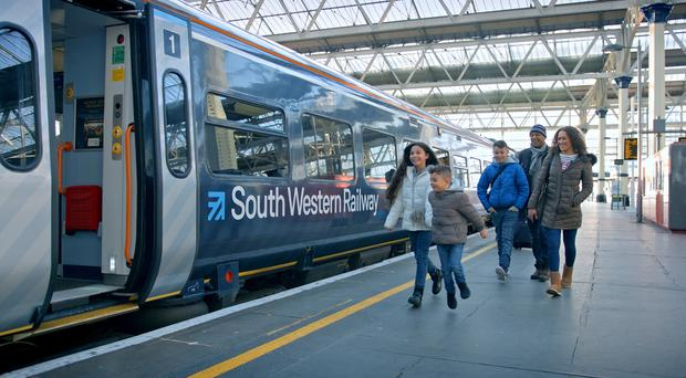 A South Western Railway train (FirstGroup/PA)
