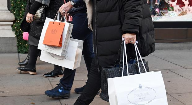 Consumers are still opening their wallets despite economic uncertainty in the UK (PA)
