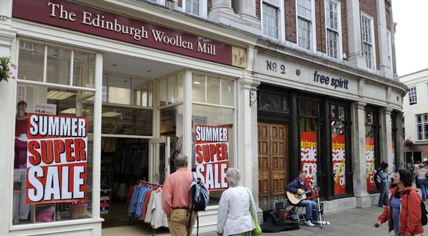 Edinburgh Woollen Mill Group also owns the Peacocks and Jaeger brands (PA)