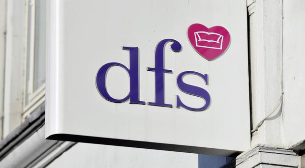 DFS said profits for the year will be just over £50 million (PA)