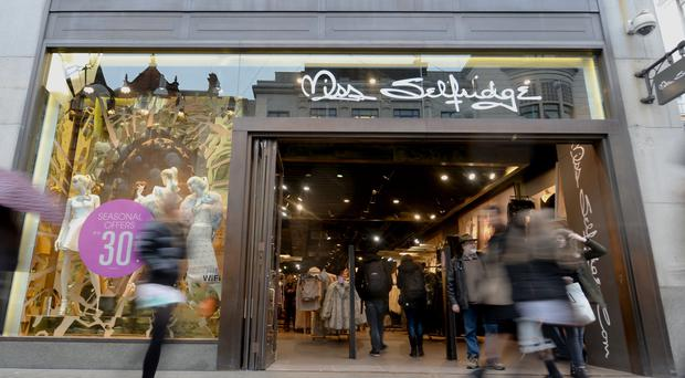 The Oxford Street branch is one of a clutch of Miss Selfridge stores closing under Arcadia's restructuring plans (Anthony Devlin/PA)