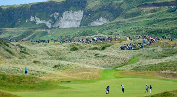Crowds flock to yesterday's practice rounds at Royal Portrush