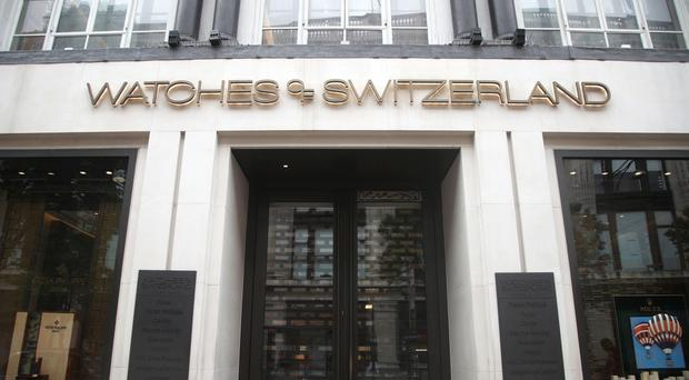 Watches of Switzerland revealed its first set of results since listing, with sales of luxury watches up (PA)