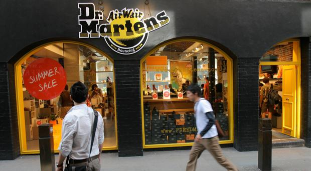 Dr Martens opened 20 new stores in the year to the end of March (PA)