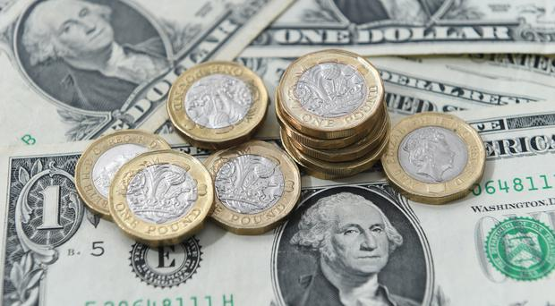 The pound's gain was the FTSE's loss on Thursday (PA)