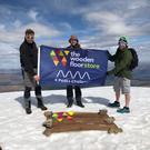 Team Wooden Floor on Ben Nevis, including directors Richard Snape NI floor firm (left) and Ross Nicholl (right)