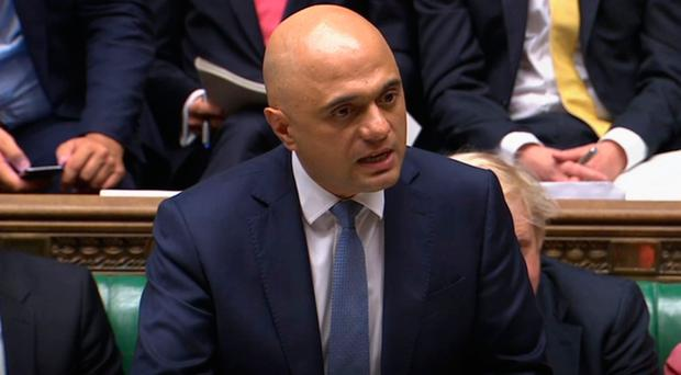 Pre-election spree: Chancellor Sajid Javid in the Commons