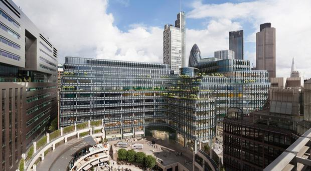 British Land's Broadgate development has just signed up two new tenants to its 100 Liverpool Street building (British Land / PA)