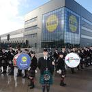 Lidl has committed to spend £15 billion over five years in the UK. Pictured is their newly opened warehouse in Motherwell, Scotland (Lidl/PA)
