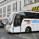 National Express buses carried 3.9% more passengers in the UK in the last three months. (John Stillwell/PA)