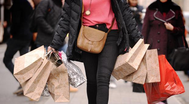 Retail sales were boosted in October as stores offered bigger discounts to tempt 'disengaged' shoppers into making purchases, the BRC-KPMG retail sales monitor said (Dominic Lipinski/PA)