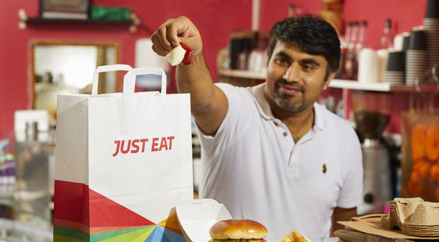 Takeaway.com agreed a £5bn deal for Just Eat in August (DCDavies/Just Eat/PA)