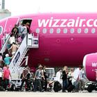 A Wizz Air plane at Luton Airport as the company upped its profit target for the year (Steve Parsons/PA)