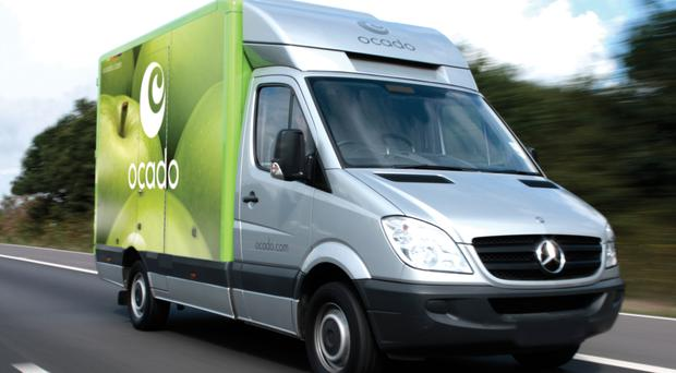 Ocado undated handout photo of one of their vans. The online grocer has unveiled plans to open its first mini robotic warehouse in Bristol, with the creation of about 815 jobs in the area.