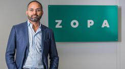 Peer-to-peer lender Zopa, headed by chief executive Jaidev Janardana, has secured an eleventh hour £140 million funding lifeline needed for plans to become a full challenger bank. (Zopa/PA)