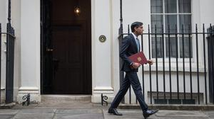 Chancellor of the Exchequer Rishi Sunak departs 11 Downing Street (Stefan Rousseau/PA)