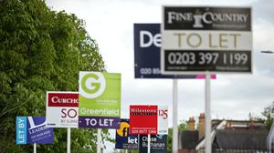 The fall in demand from new tenants in the rental sector has been less severe than the drop-off in house-hunters in the property market, according to Zoopla (Yui Mok/PA)