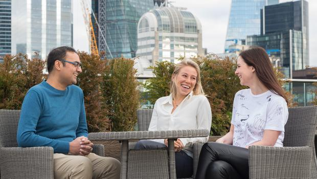 Ophelia Brown (centre) will hope to take advantage of alumni coming out of European success stories such as Spotify (Blossom Capital/PA)