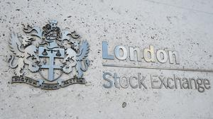 A view of the London Stock Exchange sign in the City of London, as the FTSE 100 Index rose higher (Kirsty O'Connor/PA)