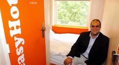 EasyHotel rooms are priced from £19 in the UK (Michael Stephens/PA)