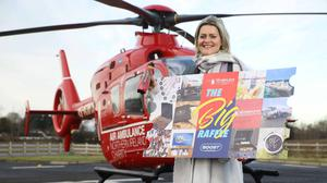 Colleen Milligan, area fundraising manager at AANI, launches the raffle at the AANI base in Lisburn.