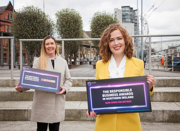 Bronagh Luke, head of corporate marketing, Henderson Group, and Lisa McIlvenna, Business in the Community.