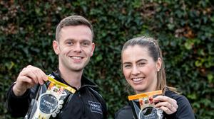 Luke Judge and Evelyn Garland, co-founders of Simply Fit Food, with their Powerbowl products to be stocked in Tesco Ireland stores.