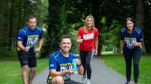 Bubba Ali, fitness coach; Pete Snodden, radio presenter; Lucy McCusker, Action Cancer; and Jennifer Morton, Centra brand manager.