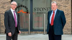 Ronan McNamee, owner, Stone Bakery, and Brian Dolaghan, executive director, Invest NI.
