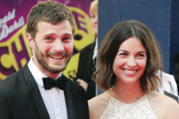 Jamie Dornan and wife Amelia Warner at the British Academy of Film and Television Awards in London last night