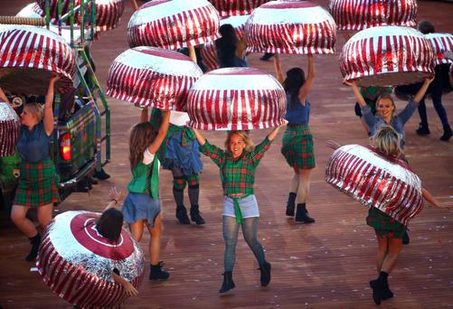 Wee buns: Glasgow's colourful opening ceremony